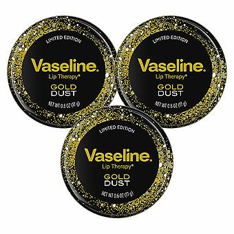 Vaseline Luxurious Addition Lip Therapy Gold Dust Lip Balm 17g Pack of 3