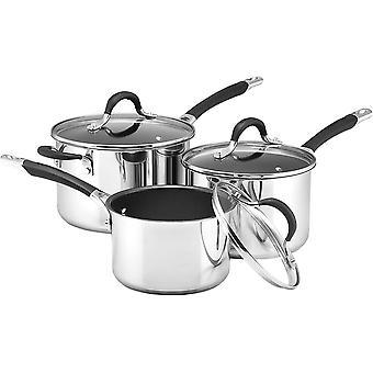 Circulon - Momemtum - Stainless Steel Saucepan Sets - Total Non Stick