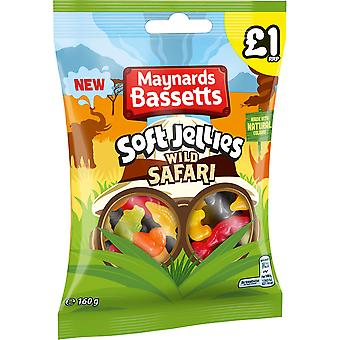 Maynards Bassetts Soft Jellies Wild Safari, 160g Share Bag