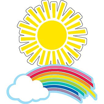 Hello Sunshine Rainbows & Suns Cut-Outs, Pack Of 36