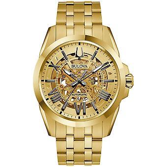 Bulova 97A162 Ouro Tom Sutton Relógio automático
