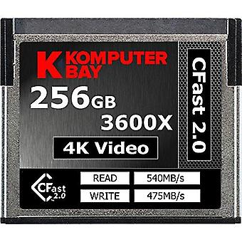 Komputerbay professional 3600x 256gb cfast 2.0 card (up to 540mb/s read and up to 475 mb/s write) 25