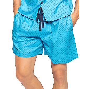 Cyberjammies Elliot 6567 Menăs Blue Paisley Bumbac Pijama Scurt