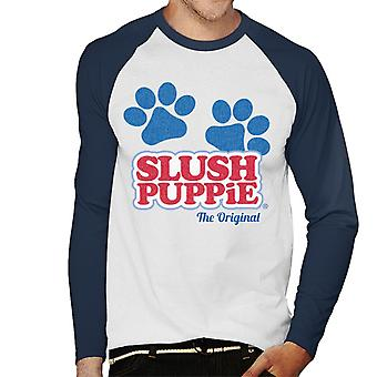Slush Puppie Paws Logo The Original Men's Baseball Langærmet T-shirt