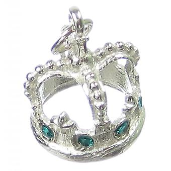 Kruunu Sterling Hopea Charm .925 X1 Royal Crowns Queen King Queens Charms - 54