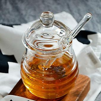 Transparante Glazen Honingpot (helder)