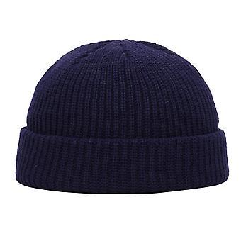 Téli kötött Skullcap Beanie Hat, téli rövid karimájú baggy dinnye sapka