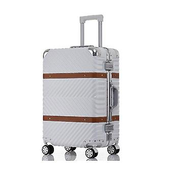 Scratchproof Rolling Luggage, Spinner Suitcase, Wheels Cabin Trolley, Aluminum