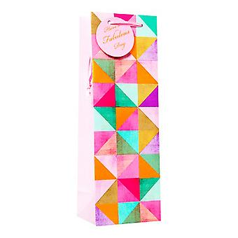 Simon Elvin Contemporary Female Patterned Bottle Gift Bags (Pack Of 6)