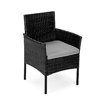 Gartenmöbel Set schwarz - Tisch + 2 Stühle