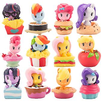 12pcs Figure Set Pony Cake Decoration Toy Doll Anime Collection