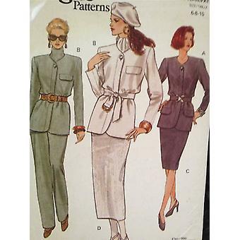 Vogue coser patrón 8764 señoras / misses chaqueta falda pantalones tamaño 6-10 UC