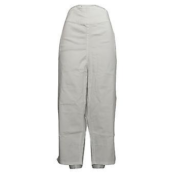 Denim & Co. Women's Pants Plus Sx Pull On V Yoke Cropped White A375859