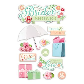 Paper House Productions - 3D Stickers - Bridal Shower