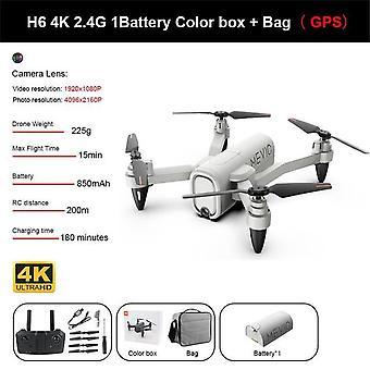 "H6 מזל""ט 4k HD מצלמה כפולה 2.4g 5g wiFi fpv גובה קבוע שלט רחוק מתקפל מיני quadcopter rc מצלמה רחפנים כבל USB"