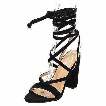 Koi Footwear High Heel Leg Wrap Sandals Lace Up Open Toe