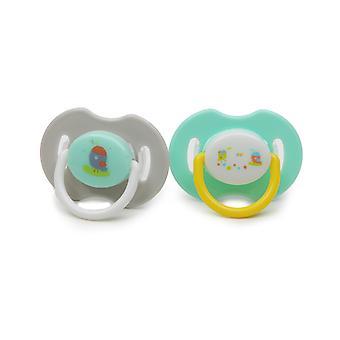 Tutti 0+ pyöreä, rauhoittava pölynimuri, silikoni, PP, 2 kpl, BPA-vapaa, syntymästä lähtien