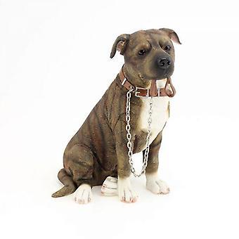Walkies Personal Brown Sentado Staffordshire Bull Terrier Ornament