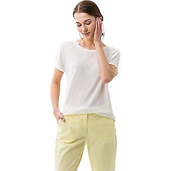 BRAX Caelen New Fluid T-Shirt, White (Offwhite 98), 54 (One Size: 48) Woman
