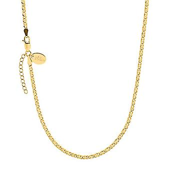 s.Oliver - Women's silver necklace 925 gold plated, 42 + 3 cm(1)