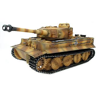 Taigen håndmalet RC Tank Fuld Metal Opgradering Version Tiger Camo RTR 2,4 GHz