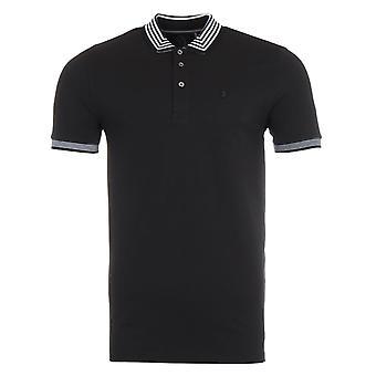 Luke 1977 Round The Corner Striped Polo Shirt - Jet Black