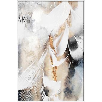 JUNIQE Print - Soothe Your Soul - Abstraite & géométrique poster en gris & blanc