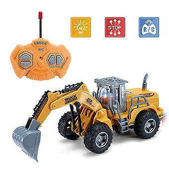 1/30 RC Truck RC Excavator 2.4G Radio Model  Construction cars Toys for boys|RC Trucks(Brown)
