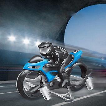 Motocicleta modo sin cabeza control remoto de cuatro ejes Drone Racing Stunt Toys For Kids (Azul)