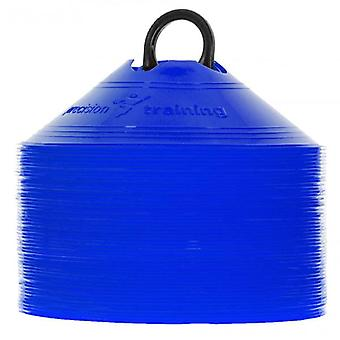 Präzisions-Untertasse Kegel (Satz von 50) - blau