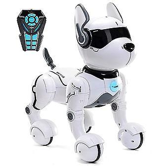 Remote control robot dog toy, rc dog robot toys smart & dancing robot toy, talking rc animals mini pet dog robot