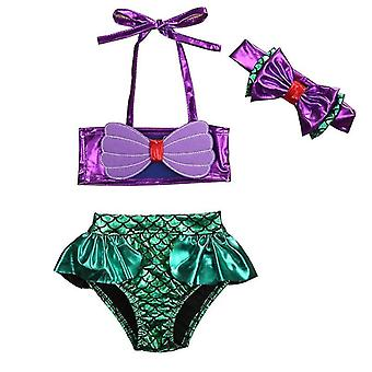 Baby Mermaid Bikini Set- Summer Beach Swimwear Bathing Suit