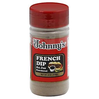 Johnnys Fine Foods Au Jus Powder, Case of 6 X 6 Oz