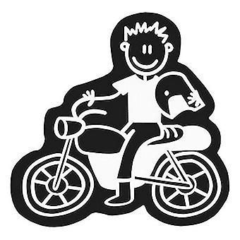 Pegatina de coche Familia Hombres Motocicleta