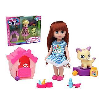 Кукла с домашними животными забавными домашними животными 110623