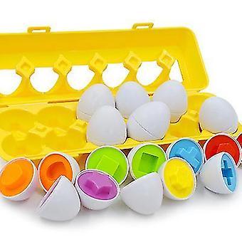 Vastaavat munat Koulutus väri ja Numeroiden tunnistusLajittelija Puzzle Skills -tutkimuslelut