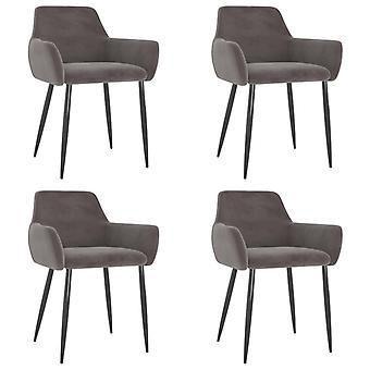 vidaXL dining chairs 4 pcs. light grey velvet