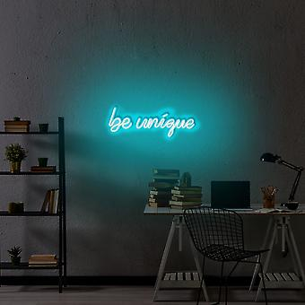 Vær unik - Blå blå væglampe