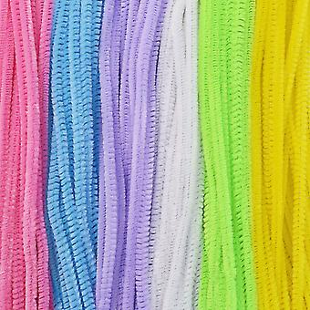 100 Pack of Pastel Coloured Pipe Cleaners