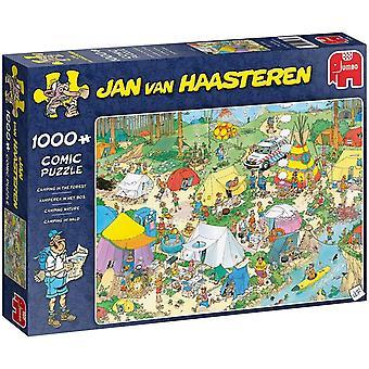 Jumbo Jan Van Haasteren Camping in the Forest Jigsaw - 1000 Piece