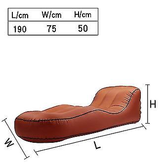 Oppustelige Lounger Air Sofa Hængekøje-bærbare, vand Proof & Anti-air utæt design (orange)