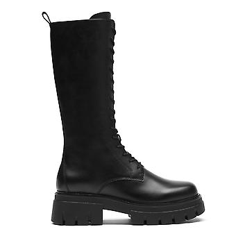 Ash LULLABY Lace Up Black Leather Boots