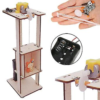 Pretend professions role playing wood assemble diy electric lift kids science experiment material kits tool sm158016