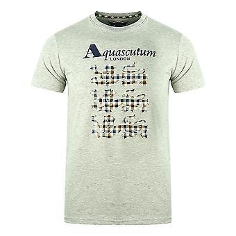 Aquascutum Triple Lion Check Logo Grå T-Shirt