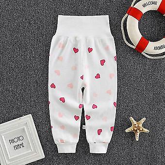 Newborn Baby Pants High Waist Cotton Elastic Waist Leggings