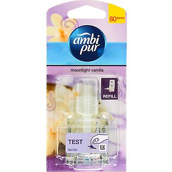 6 X 20Ml Ambi Pur Febreze Plug In Refill Air Freshener - Moonlight Vanilla