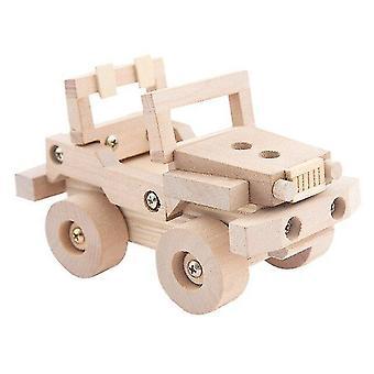 Wooden blocks wooden toys for kids oyuncak assembled model cars vehicles screwing blocks toys for boys learning