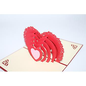 3d Valentine's Day Greeting Cards Wedding Invitation Appear Love Romantic Confession Anniversary Birthday Gift For Girlfriend Boyfriend Wife Husband B