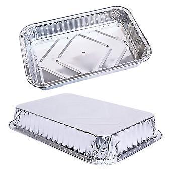 Casseroles d'égouttage de gril en aluminium - pack en vrac de plateaux de gril durables