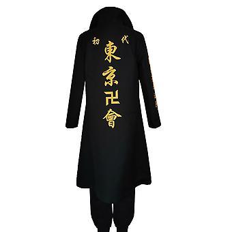 Manjiro Sano Cosplay Costume, Unisex Costume, Anime Tokyo Manji Gang Mikey, Cape Jacket And Pants, Halloween Party